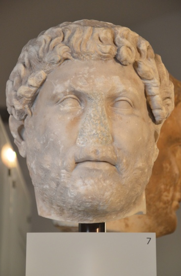 Head of Hadrian, from Italy, Ny Carlsberg Glyptotek, Copenhagen