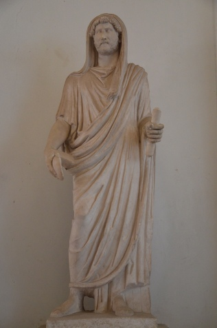 Statue of Hadrian as Pontifex Maximus, 117-138 AD, from Rome, Palazzo Nuovo, Capitoline Museums