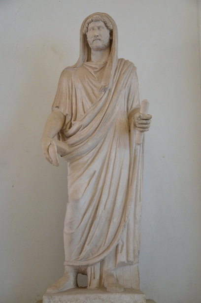 Statue velato capite of Hadrian (maybe) as pontifex maximus.