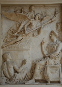 Relief from the Arc of Portugal (Arco di Portogallo) representing the apotheosis of Sabina (wife of Hadrian), 136-138 AD, Palazzo Nuovo, Capitoline Museums