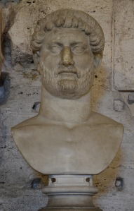 Marble bust of Hadrian, from Hadrian's Mausoleum. (National Museum of Castel Sant'Angelo, Rome)