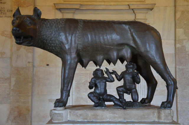 The she-wolf feeding the twins Romulus and Remus, the most famous image associated with the founding of Rome. Image © Carole Raddato.