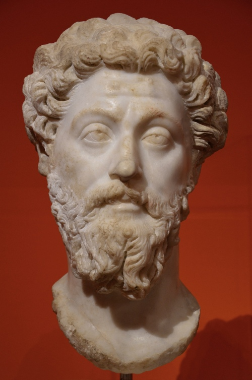 Portrait of emperor Marcus Aurelius, from Rome, after AD 169, Liebieghaus, Frankfurt am Main