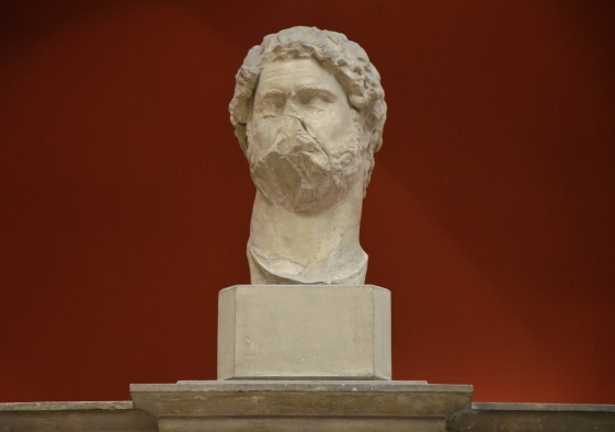Portrait from an acrolith-statue of the Roman emperor Hadrian, from the Trajaneum in Pergamon, early 2nd century AD, Pergamon Museum
