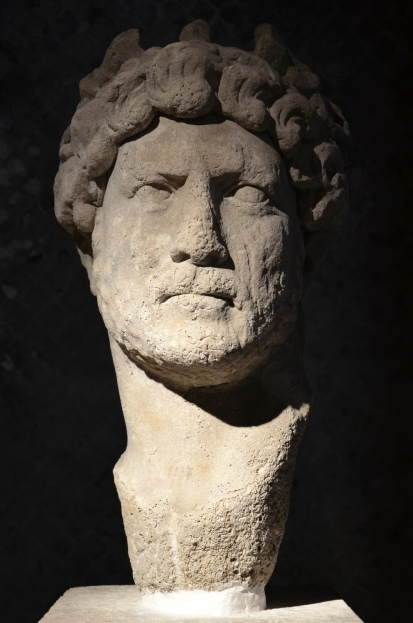 Head from a cuirssed torso of Hadrian, found in Piraeus in 1963, AD 124/125, Piraeus Archaeological Museum