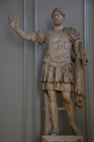 Cuirassed statue of Hadrian, Type: Imperatori 32, from Italy, Hampton Court Palace, London