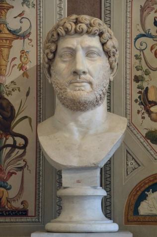 Colossal portrait of Hadrian, Luni Marble, 140 AD (posthumous), Galleria Borghese, Rome