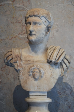 Cuirassed bust of Hadrian with paludamentum (recut in modern times), of the so-called Imperiatori 32 type, from Italy, Kunsthistorisches Museum Vienna, Austria
