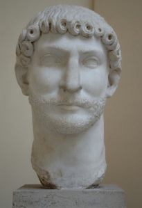 Hadrian, Thasian Marble, from the lime kiln of the Caseggiato di Serapide, 2nd century AD, Ostia Antica, Italy