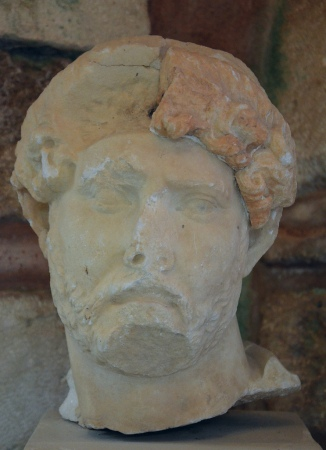 Head of Hadrian, found at the Sancturary of Diktynna (Diktynnaion) in 1913, Chania Archaeological Museum, Crete