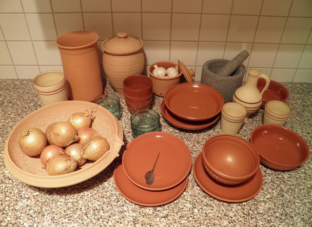 My Collection of Roman pottery/tableware replica © Carole Raddato