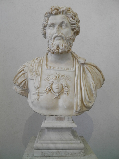 Marble bust of Septimius Severus, from Ostia, 196-197 AD, Palazzo Massimo alle Terme, Rome