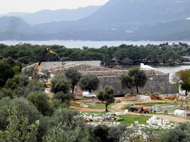 Construction work at Andriake, the Hadrian granary to be will be the enclosed portion of the new Lycian Museum, Andriake, Turkey© Carole Raddato