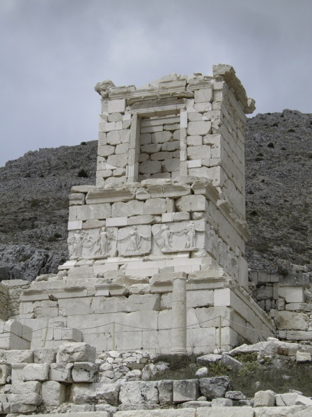 The NW Heroon (honorific monument), built ca 0-14 A.D., Sagalassos, Turkey