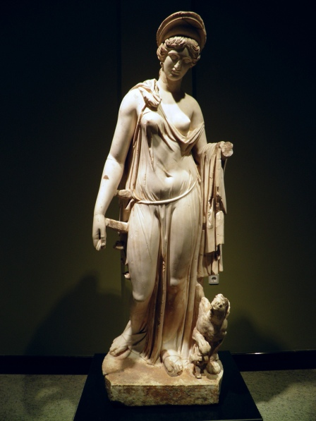 Marble statue of Nemesis, from the Antonine Nympheum, 160-180 AD, Burdur Museum