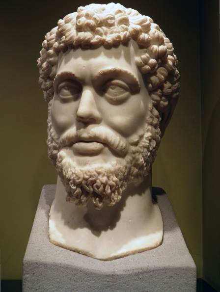 The head of the colossal marble statue of Marcus Aurelius found at the Sagalassos Roman Baths complex in 2008, Burdur Museum © Carole Raddato
