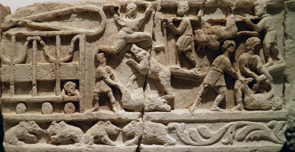 Frieze with depictions of wild beast taming and hunting, 2nd - 3rd century AD, from the necropolis at Kibyra, Burdur Museum © Carole Raddato