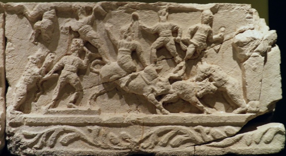Frieze with depictions of wild beast hunting, 2nd - 3rd century AD, from the necropolis at Kibyra, Burdur Museum © Carole Raddato