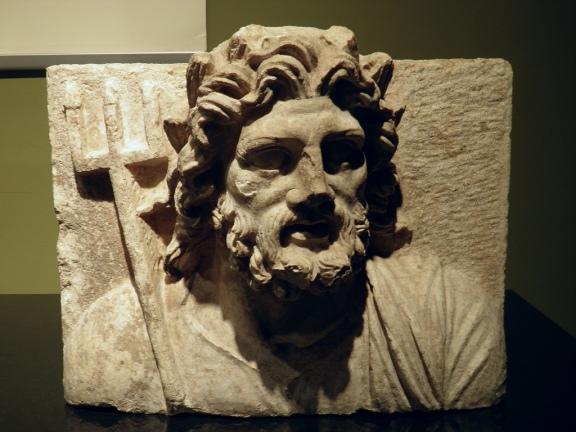 Relief of Poseidon, 1st - 2nd century AD, Burdur Museum © Carole Raddato