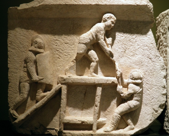 Frieze with gladiator figures, 2nd - 3rd century AD, from the necropolis at Kibyra, Burdur Museum © Carole Raddato