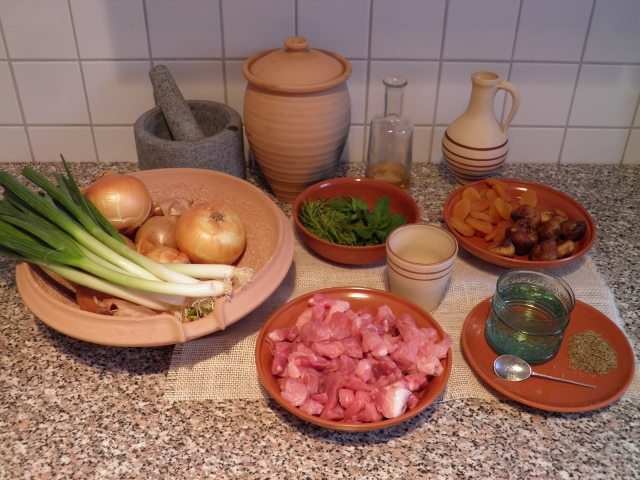 Minutal ex Praecoquis (Apricot Ragout) - ingredients © Carole Raddato