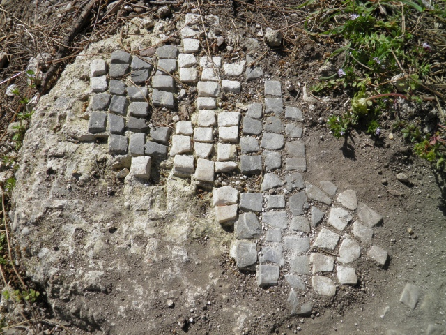 Mosaic in-situ, Seleukeia (Lyrbe) © Carole Raddato