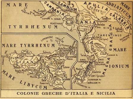 Magna Graecia & Sicily map