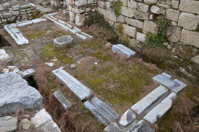 The rectangular latrines of the gymnasium at Metropolis in Ionia (Turkey).