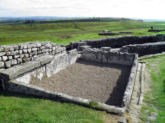 Water tank in Housesteads Fort. It was lead lined to hold water for the latrine.