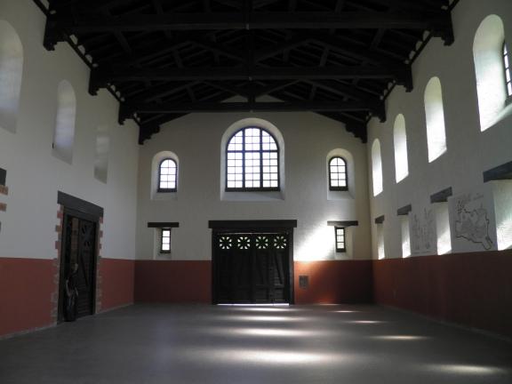 Inside the basilica or entrance hall, Saalburg Roman Fort