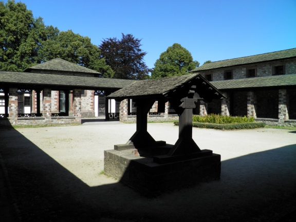 Courtyard of the Headquarters building, Saalburg Roman Fort