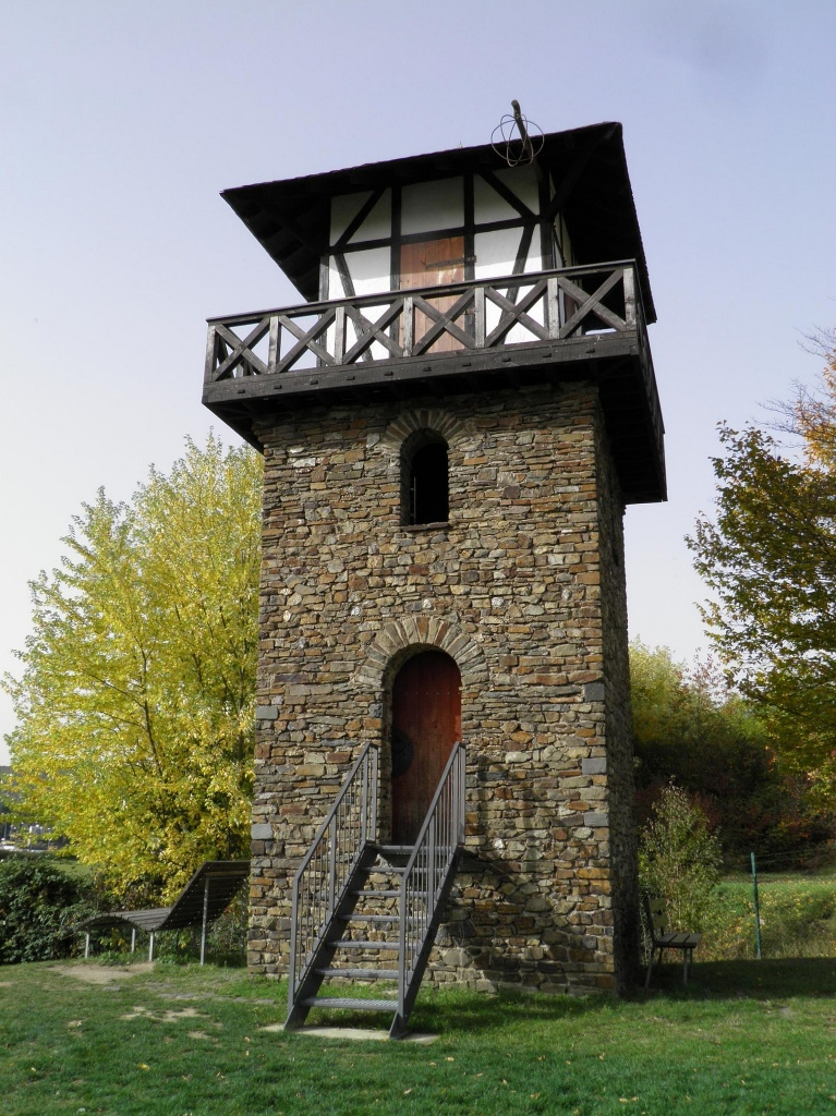 WP 1/1 - Reconstructed Limes Watchtower (not historically correct), Rheinbrohl, Germany