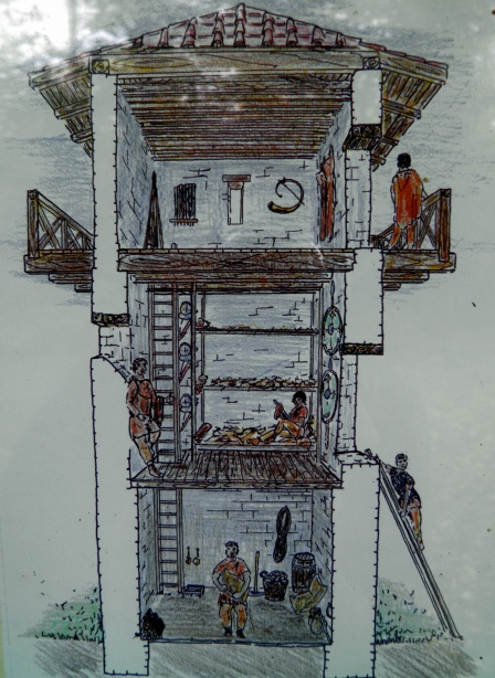 WP 1/37 - Reconstruction drawing of a Limes watchtower
