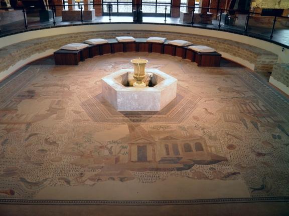 The Oceanus mosaic, 3rd century AD, Römerhalle, Bad Kreuznach© Carole Raddato