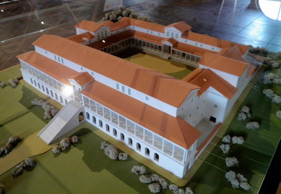 Model of the Roman Villa, Römerhalle, Bad Kreuznach © Carole Raddato
