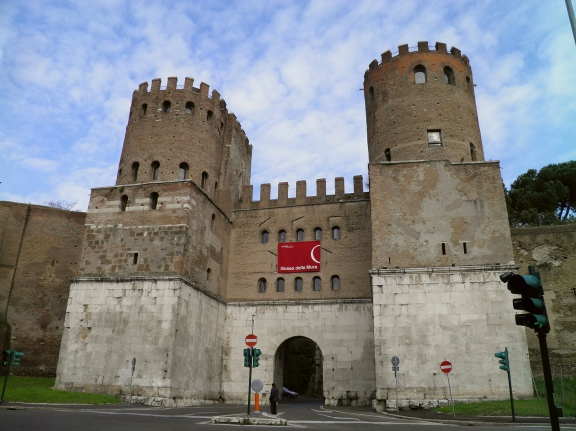 The Porta Appia (now Porta San Sebastiano), the most imposing of the gates in the Aurelian walls, built in the last quarter of 3rd century © Carole Raddato