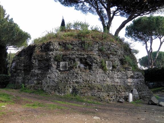 Round mausoleum with square base, Via Appia © Carole Raddato