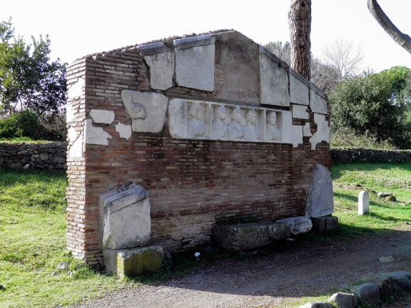 The reconstructed tomb of Tiberio Claudio Secondino, Via Appia © Carole Raddato
