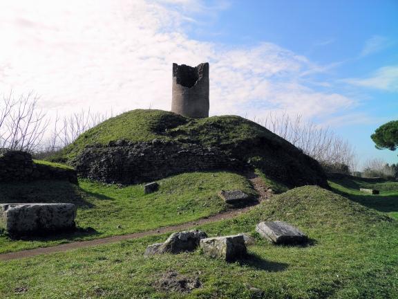 Tumulus of the Orazi with tower, Via Appia © Carole Raddato