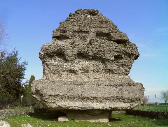 Tomb in the form of a pyramid, Via Appia © Carole Raddato