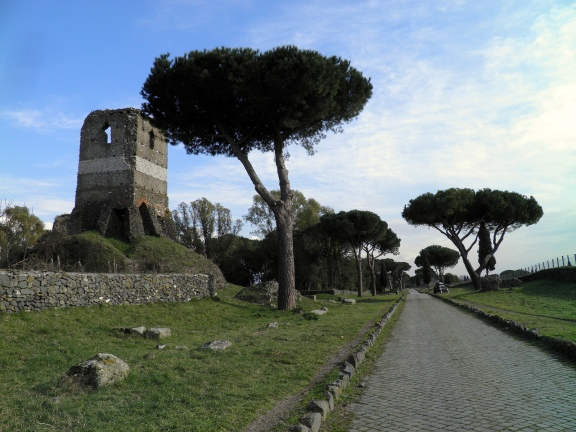 Torre Selce and a stretch of the Via Appia beyond mile VI, Via Appia © Carole Raddato