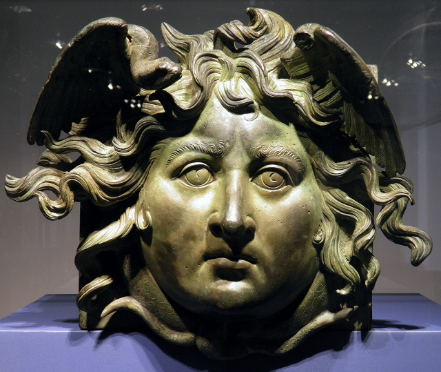Head of Medusa, bronze fitting of the Nemi Ships built by Caligula at Lake Nemi, Palazzo Massimo alle Terme, Rome © Carole Raddato