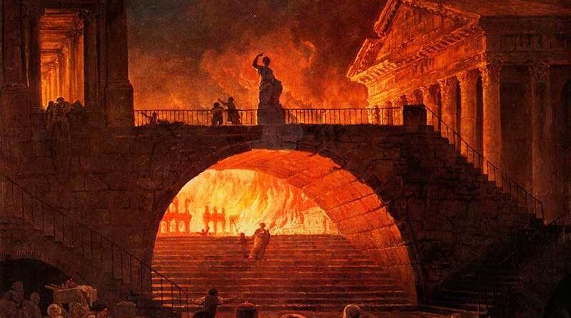 fire in rome in 64 ad 27 bc restoration of the republic 6 ad: establishment of military chest at rome 64 ad: fire at rome.