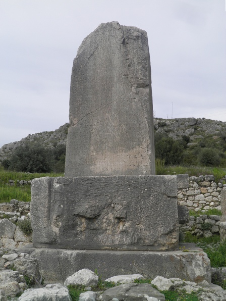 The Xanthos Obelisk, a trilingual inscribed pillar in the Lycian language with Greek inscriptions, Xanthos © Carole Raddato