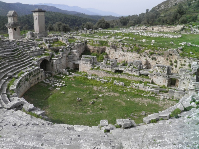 The Roman theatre, built in the mid-2nd century AD, Xanthos © Carole Raddato