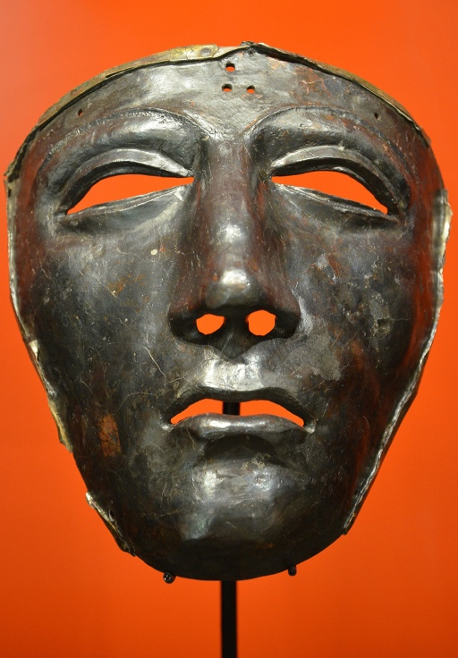Kalkriese face mask for Roman cavalry helmet, Museum und Park Kalkriese, Germany © Carole Raddato