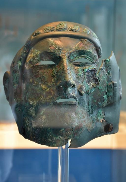 Face mask of a cavalry helmet, second century, from  Durnomagus (Dormagen), Rheinisches Landesmuseum, Bonn © Carole Raddato