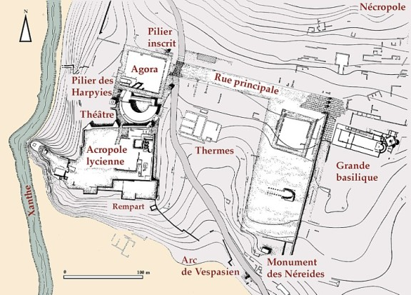 Plan of Xanthos © French Archaeological Mission of Xanthos-Letoon