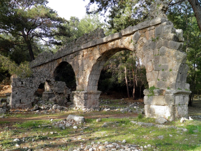 The ruins of the Roman aqueduct, Phaselis Carole Raddato