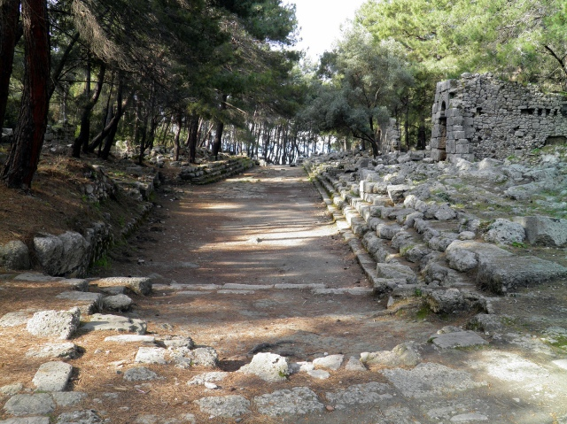 The main paved street, Phaselis © Carole Raddato